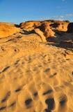 Piedras y colinas grandes de la arena Imagenes de archivo