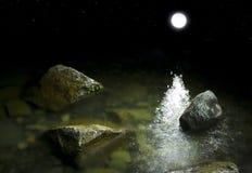 Piedras y luna Foto de archivo libre de regalías
