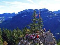 Piedras y rocas del macizo Alpstein de la montaña y en la región de Appenzellerland imagen de archivo