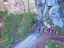 Piedras y rocas del macizo Alpstein de la montaña y en la región de Appenzellerland imagen de archivo libre de regalías