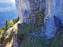 Piedras y rocas del macizo Alpstein de la montaña y en la región de Appenzellerland imagenes de archivo