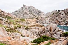 Piedras y rocas en Cerdeña Foto de archivo