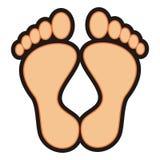 pieds illustration stock