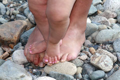 Pieds affectueux Image stock