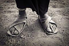 Pieds africains Photo libre de droits