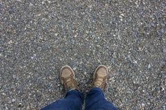 Pieds avec des chaussures Photo stock