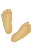 pieds d'enfant Images stock