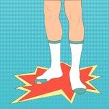 Pieds dans l'illustration de vecteur de chaussettes Images stock