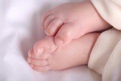 Pieds de bébé photo stock