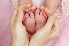 Pieds de chéri nouveau-née Images libres de droits