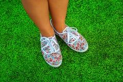 Pieds de chaussures Photographie stock libre de droits