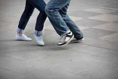 Pieds de danse Photo libre de droits