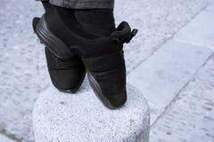 Pieds de danseur sur les astuces Photographie stock libre de droits