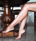 Pieds de jambes Images stock