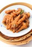 Pieds de poulet cuits par Chinois Image stock