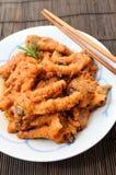 Pieds de poulet cuits par Chinois Image libre de droits