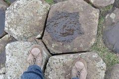 Pieds en pierre hexagonaux de Giants Photos stock