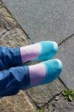 Pieds et chaussures Image de Selfie Photographie stock