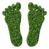 Pieds faits à partir des feuilles vertes d'isolement sur le fond blanc 3d rendent Photos libres de droits