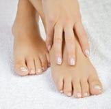 Beaux pieds femelles Image libre de droits