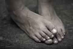 Pieds humains Photo libre de droits