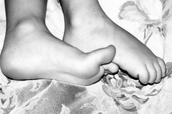 Pieds minuscules Photographie stock
