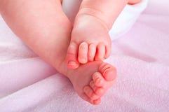 Pieds nouveau-nés de chéri Photos libres de droits