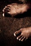 Pieds nus Image libre de droits