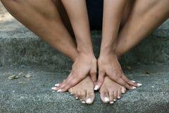 Pieds nus de fille Photos libres de droits