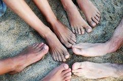 Pieds sur le sable Photographie stock libre de droits