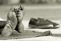 pieds vieux Images stock