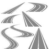 Piegando l'insieme di vettore delle strade, immagazzini l'illustrazione di vettore royalty illustrazione gratis