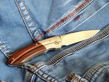 Piegatura del coltello Fotografie Stock