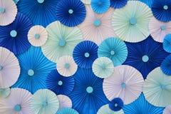 Piegatura di carta multicolore Immagini Stock