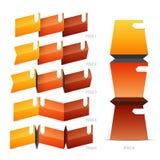 Pieghi gli elementi di carta della piega Immagini Stock
