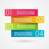 Pieghi il grafico di secuence numerato nastro infographic Fotografie Stock Libere da Diritti