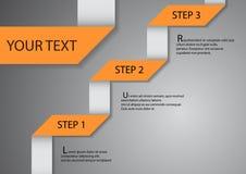 Pieghi la carta e lo spazio per testo illustrazione di stock