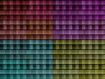 Pieghi la struttura dei vestiti nei colori differenti Fotografia Stock