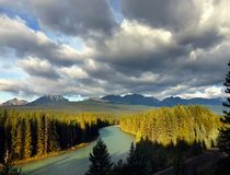 Pieghi parco nazionale del fiume, Banff Fotografia Stock