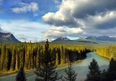 Pieghi parco nazionale del fiume, Banff Immagini Stock Libere da Diritti