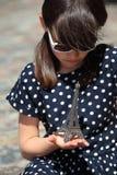 Piegowata Francuska dziewczyna zdjęcie royalty free