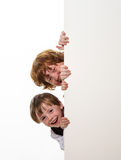 Piegowaty włosów braci ono uśmiecha się. obraz stock