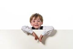 Piegowaty włosy chłopiec portret obraz stock