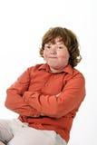 Piegowaty włosy chłopiec studia portret. obrazy stock