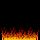 piekła płomieni Obrazy Royalty Free