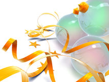 piłek boże narodzenia szklani Zdjęcia Royalty Free