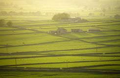 Piek Derbyshire Engeland van het distict nationale park longstone legt vast Stock Foto's
