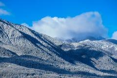 Piek, mooie natuurlijke de winterachtergrond van de bergsneeuw Ijs hoogste o Royalty-vrije Stock Fotografie