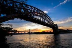 Piekło bramy Triborough i mosta most, Nowy Jork Zdjęcia Royalty Free