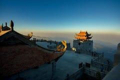 Piek van de Fansipan de hoogste berg van indochina in sapa lao cai nort stock foto's